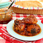 Smoked Chicken with Chipotle, Peach and Bourbon Barbecue Sauce