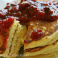 Cornmeal Pancakes with a Raspberry Compote