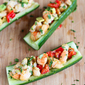 Cumin Orange Shrimp-Stuffed Cucumber Boats