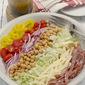 (Almost) Nancy's Chopped Salad with Oregano Vinaigrette #bloggerCLUE