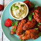 Oven-Baked Strawberry-Chipotle Wings