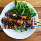 Grilled Beef Skewers With Pineapple
