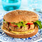 Grilled Turkey Burgers with Curry Hummus Recipe