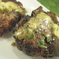 Grilled Lamb Chops with Dijon-Basil Butter; meanderings
