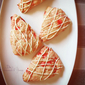 Strawberry Scones with White Chocolate Drizzle