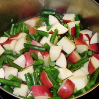 Green Beans, New Potatoes and Bacon