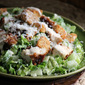 Crouton-Crusted Chicken Caesar Salad
