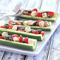 Greek Salad Cucumber Boats