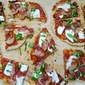 Grilled Pizza Margherita with Pancetta