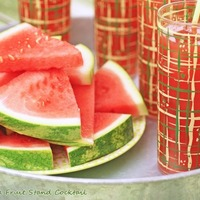 The Georgia Fruit Stand Cocktail–a watermelon drink with peach whiskey & lime