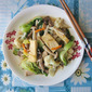 Napa Cabbage, Bok Choy with Mushrooms, Tofu 大白菜焖蘑菇豆腐