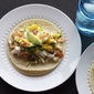 Halibut Tacos with Mango Salsa & Lime Crema