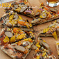 Grilled Pizza w/ Onions, Peppers, Corn & Brats #BlondeBBQChallenge