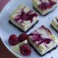 Raspberry -White Chocolate Cheesecake Bars