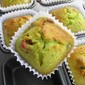 Cranberry Pandan French Muffins