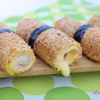 Delicious Kraft Cheese and Ham Sushi Rolls