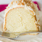 Coconut Bundt Cake with White Chocolate-Coconut Glaze