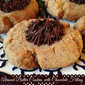 Almond Butter Thumbprint Cookies with Chocolate Filling