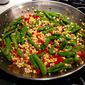 Hot or Cold Corn and Snap Pea Salad