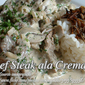 Beef Steak a La Crema