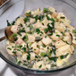 Potato Salad with Garlic Scapes, Snap Peas and Scallions