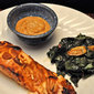 Grilled Salmon with Miso Sherry Sauce, meanderings