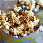 Salted Caramel Popcorn with Almonds