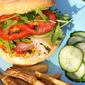 Zucchini Burger with Sriracha & Pancetta