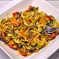 Zucchini Noodles with Cherry Tomatoes, the Spiralizer
