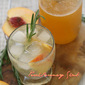 Peach-Rosemary Shrub #ProgressiveEats