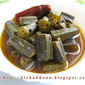 Tetul Dhyarosh / Ladies finger cooked with tamarind