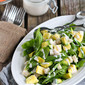 Jicama & Pineapple Spinach Salad with Sriracha Buttermilk Dressing Recipe