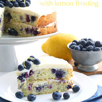 Blueberry Zucchini Cake with Lemon Frosting