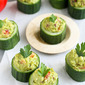 Greek Avocado & Feta Cucumber Cups Recipe