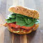 Everything Bagel BLT with Pesto Aioli