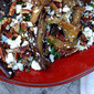 Pomegranate Roasted Eggplant with Toasted Pecans & Chives