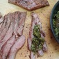 Grilled Flank Steak with Tomatillo Jam
