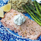 Salmon Baked in Foil with Garlic Butter Sauce