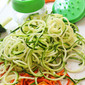 Oodles of Zoodles with Avocado Basil Pesto and Farmer's Market Tomatoes