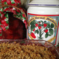 Strawberry Crisp made with Homemade Strawberry Pie Filling