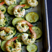 Roasted Curry Shrimp & Zucchini Sheet Pan Meal