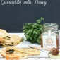 Grilled Vegetable Quesadilla with Honey :: 5 Ingredient Meals