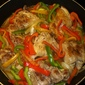 Chicken With Three Peppers