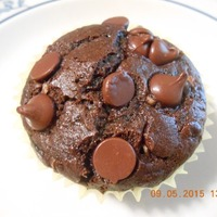 Double Chocolatey Zucchini Muffins