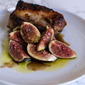 Seasonal inspiration: pork belly with sweet and sour fresh figs.