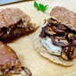 Pan-Grilled Turkey Burgers with Sautéed Mushrooms