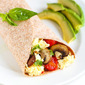 Breakfast Egg Wrap with Bacon, Mushrooms & Tomato Recipe