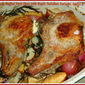 Weekend Gourmet Flashback: Goat Cheese-Stuffed Pork Chops with Maple-Balsamic Parsnips, Apples & Potatoes