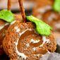 Caramel Pumpkin Spice Rice Krispies Treats Pinwheels