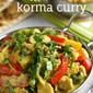 Healthier korma curry